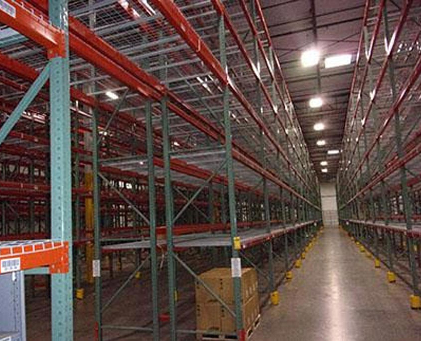 Photo of warehouse full of pallet racking