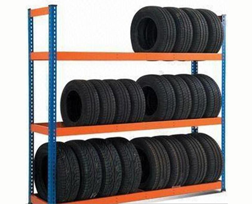 Picture of Industrial Shelving with Car Tires