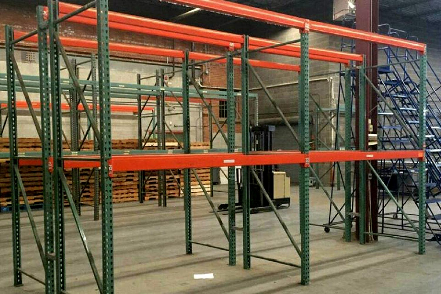 Photo of pallet racks in a warehouse